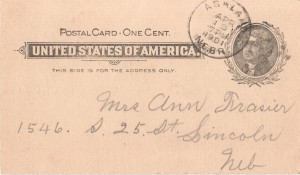 A penny postcard from 1901