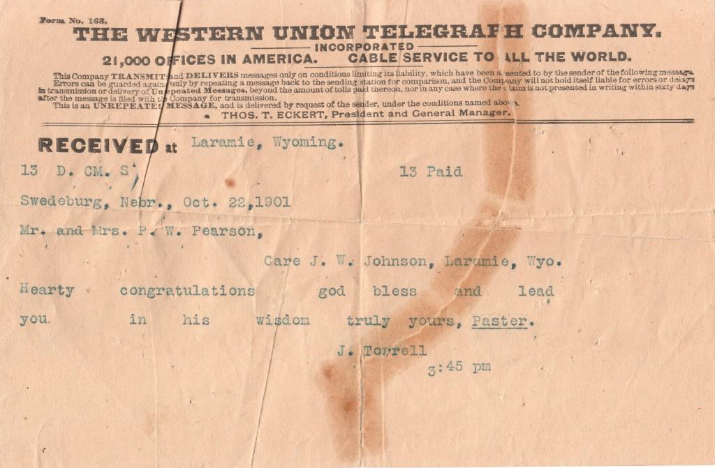 1901 Telegram