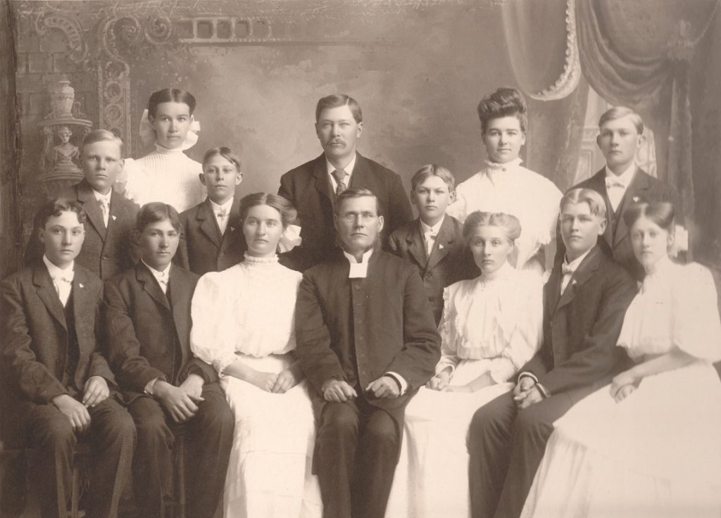 P.W. Pearson Confirmation, ca. 1903. P.W. is at center of back row.