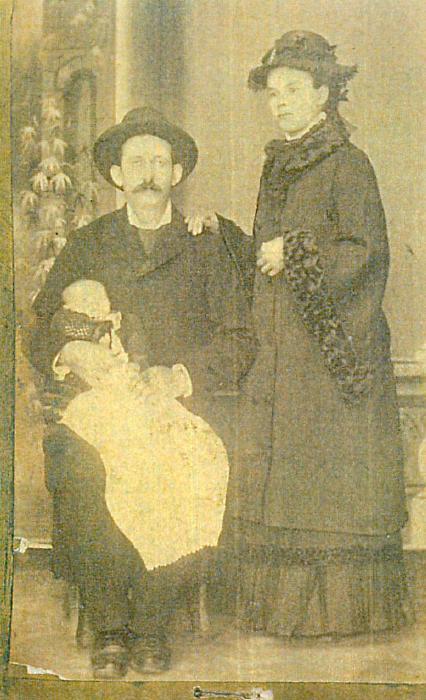 Joseph and Ottilia Burkey, ca. 1883