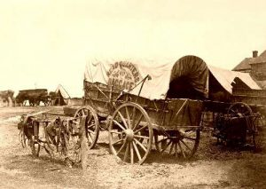 Typical supply wagon used in Civil War
