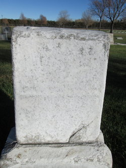 Tombstone for Elizabeth Rademacher (1911-1912) and Mary Rademacher (1915-1924)