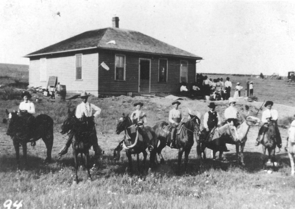 The Peter family homestead in South Dakota, ca 1905