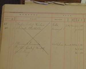 Rudeen family record collected in Nebraska recently