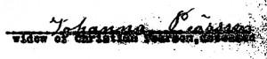 1909-07-15JohannaPearsonSignature