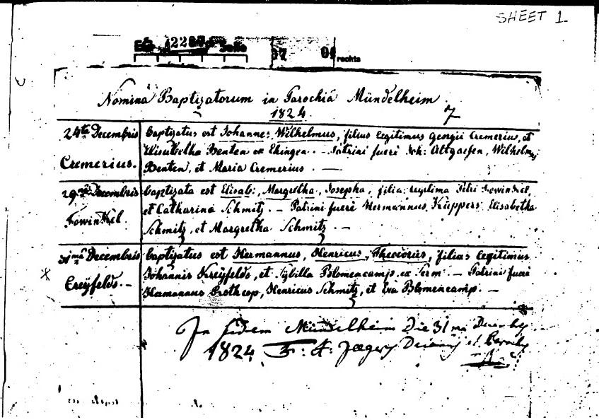 MündelheimChurchRecords_1824HermanKreifels