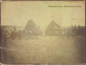 Typical farm scene, 1880 Nebraska