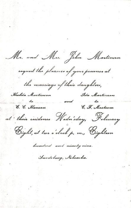 1899-02-08HansonMartinsonWeddingInvitation