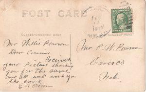 Mystery Postcard, back