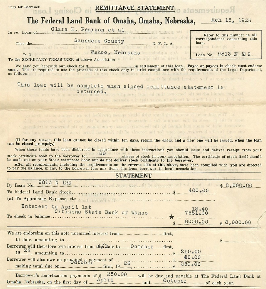 1926-03-15ClaraPearsonFederalLandBank