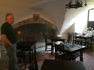 This room was the original working kitchen inside the castle.