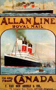 Poster fo Allan steamship line